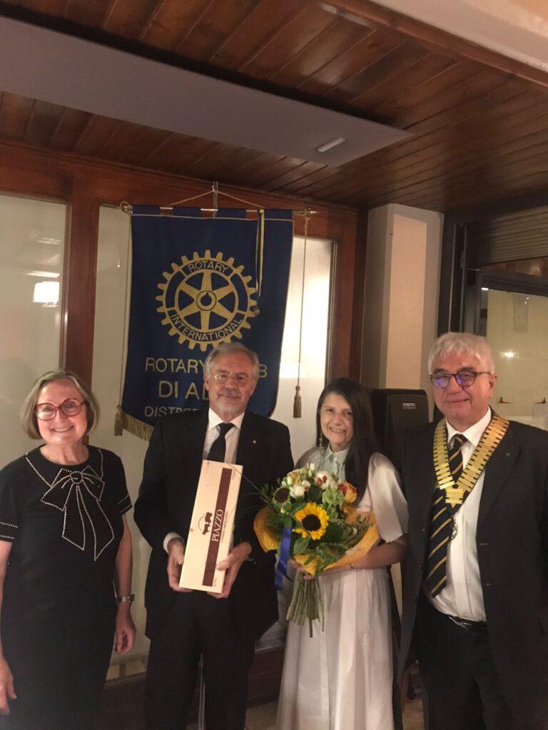 Gianluigi Castelli ospite della prima Conviviale del Rotary di Alba